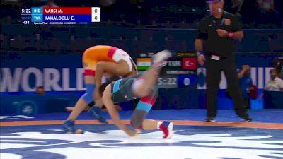 57 kg Quarterfinal - Mansi Mansi, IND vs Elvira Kamaloglu, TUR