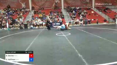 97 kg Consolation - Brendan Devine, Pennsylvania vs Gavin Hoffman, Ohio Regional Training Center