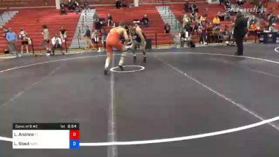 92 kg Consolation - Logan Andrew, Florida vs Luke Stout, New Jersey RTC