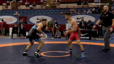 77 kg Quarterfinal - Jake Fisher, Curby 3 Style Wrestling Club vs Peyton Walsh, Marines