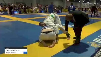 Tyler Andrew Milton vs Brendon Kyle Davis 2021 American National IBJJF Jiu-Jitsu Championship