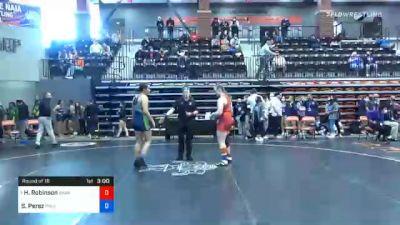 170 lbs Prelims - Hunter Robinson, Grand View vs Sabrina Perez, Providence