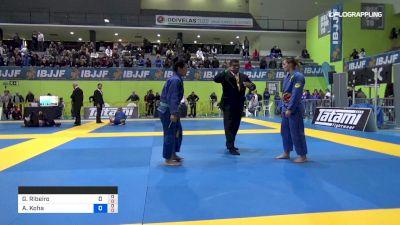 Glenda Ribeiro vs Andra Koha 2019 European Jiu-Jitsu IBJJF Championship