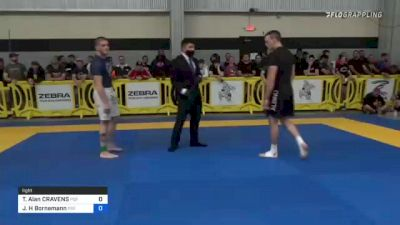 Tad Alan CRAVENS vs Jacob H Bornemann 2021 Pan IBJJF Jiu-Jitsu No-Gi Championship