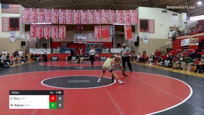 126 lbs Semifinal - Carfagno, Gus, Spring-Ford vs Matt Repos, Central Dauphin
