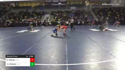 125 lbs Quarterfinal - Chase Poston, Central College vs Cristian Chavez, Luther College