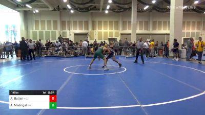 3rd Place - Alexander Butler, Missouri vs Alex Madrigal, George Mason
