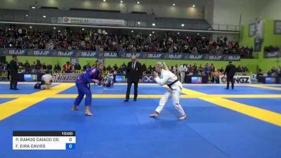 FFION EIRA DAVIES vs PATRÍCIA RAMOS CAIADO DOS SANTOS 2020 European Jiu-Jitsu IBJJF Championship