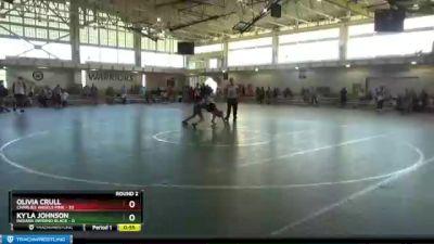 112 lbs Round 2 (4 Team) - Olivia Crull, Charlies Angels Pink vs KY`la Johnson, Indiana INFERNO BLACK