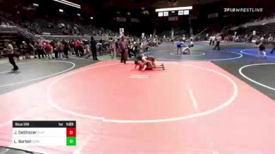 172 lbs Semifinal - Jace DeShazer, Flathead Valley WC vs Logan Barton, Cody WC