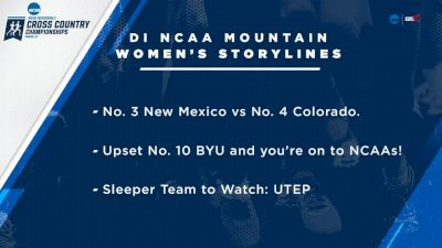 2018 DI NCAA Mountain XC Regional Women's 6k