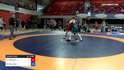 77 lbs Quarterfinal - Burke Paddock, New York Athletic Club vs Mason Manville, Nittany Lion Wrestling Club