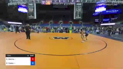 113 lbs Consolation - Kyison Garcia, Utah vs Kaleb Casey, Wisconsin