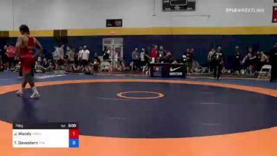 74 kg Round Of 32 - Jeremiah Moody, Hawkeye Wrestling Club vs Trever Devestern, Titan Mercury Wrestling Club (TMWC)