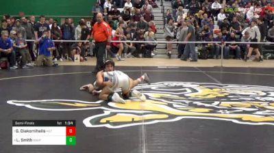 113 lbs Semifinal - Greg Diakomihalis, Hilton vs Luke Smith, Hauppauge