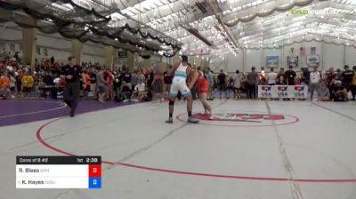 70 kg Consi Of 8 #2 - Ryan Blees, SERTC-VT vs Ke-Shawn Hayes, Ohio State-Unattached