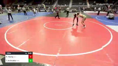 132 lbs 5th Place - Keyton Young, Palisade vs Tyler Archuleta, Purebred Elite