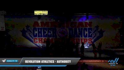 Revolution Athletics - Authority [2021 L3 Senior Coed - D2 - Small Day 2] 2021 The American Celebration DI & DII