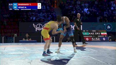 77 kg Repechage #2 - Tamerlan Shadukayev, Kazakhstan vs Mohammadali Geraei, Iran