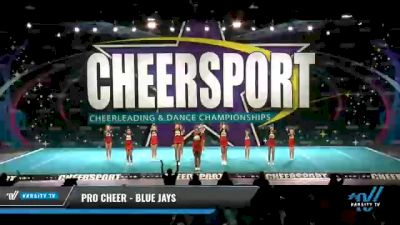 Pro Cheer - Blue Jays [2021 L2 Youth - Small - A Day 2] 2021 CHEERSPORT National Cheerleading Championship