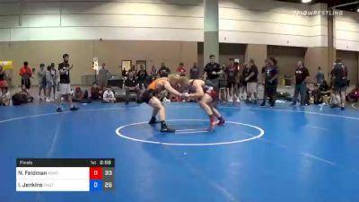 220 lbs Final - Nicholas Feldman, Team Kong United vs Ira Jenkins, Team Shutt