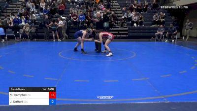 109 lbs Semifinal - McKayla Campbell, Campbellsville (W) vs Jessica DeHart, Eastern Oregon (W)