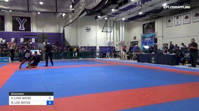 VINICIUS LINO WONG vs DYLAN LEE ROYCE 2019 Pan IBJJF Jiu-Jitsu No-Gi Championship