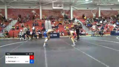 79 kg Prelims - Jack Ervien, Jr., Washington vs Jackson Hemauer, Northern Colorado Wrestling Club