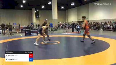 65 kg Prelims - Anthony Ferrari, Cowboy Wrestling Club vs Kyle Prewitt, Arkansas RTC