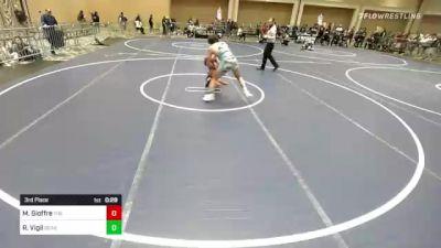 145 lbs 3rd Place - Michael Gioffre, The Empire vs Ryan Vigil, Bear Cave