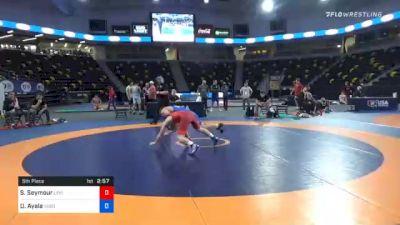 57 kg 5th Place - Sheldon Seymour, Lehigh Valley Wrestling Club vs Drake Ayala, Sebolt Wrestling Academy