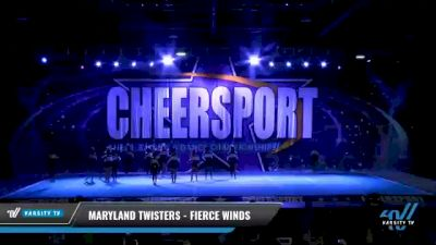 Maryland Twisters - Fierce Winds [2021 L4 Junior - Small Day 2] 2021 CHEERSPORT National Cheerleading Championship