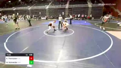 152 lbs Final - Anders Thompson, Flathead Valley WC vs Wyatt Schneider, Capital Wrestling