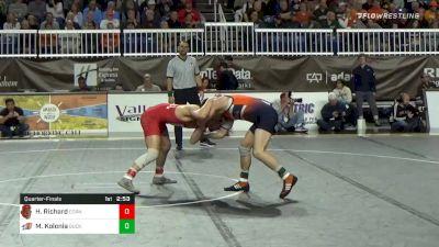 149 lbs Quarterfinal - Hunter Richard, Cornell vs Matthew Kolonia, Bucknell
