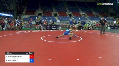 120 lbs Quarterfinal - Trevor Mastrogiovanni, New Jersey vs Kyle Biscoglia, Iowa