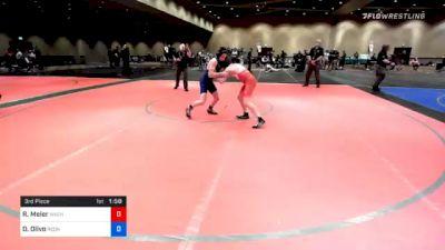 102 lbs 3rd Place - Ryan Meier, Wachusett Youth Wrestling vs Daniel Olivo, RedNose Wrestling School, LLC