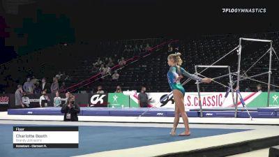 Charlotte Booth - Floor, Brandy Johnson's - 2021 GK US Classic & Hopes Championship