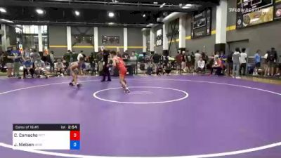 57 kg Consolation - Colton Camacho, Pittsburgh Wrestling Club vs Jackson Nielsen, Nebraska Golden Eagles Wrestling Club