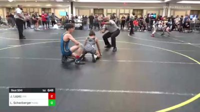 109 lbs Consi Of 16 #1 - Jobe Lopez, Dog Pound Wrestling vs Lucas Schanberger, Manu Wr Ac