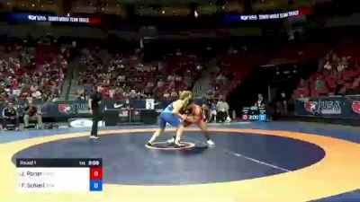 77 kg Round 1 - Jesse Porter, New York Athletic Club vs Fritz Schierl, Titan Mercury Wrestling Club