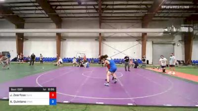 152 lbs Semifinal - Jacob Zearfoss, Seagull Wrestling Club vs Alexander Quintano, Shore Thing WC