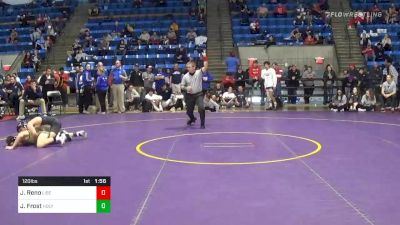 120 lbs Semifinal - Jeremiah Reno, Liberty vs Jacob Frost, Holy Cross