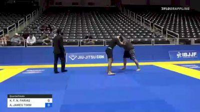 KLEBER F. N. FARIAS vs ANTHONY JAMES TIMM 2021 World IBJJF Jiu-Jitsu No-Gi Championship