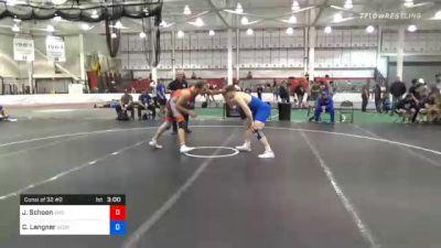 86 kg Consolation - Jacob Schoon, Jackrabbit Wrestling Club vs Corey Langner, Georgia