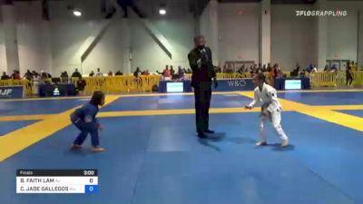 BAYLEE FAITH LAM vs CASSANDRA JADE GALLEGOS 2021 American National IBJJF Jiu-Jitsu Championship