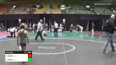 58 lbs 2nd Place - Logan Pigott, Siouxland Wr Ac vs Tanner Baxter, Institute Of Combat