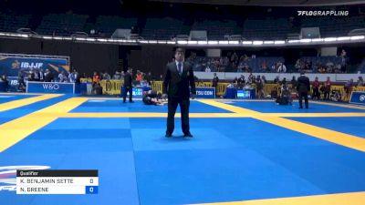 KENJI BENJAMIN SETTE vs NICHOLAS GREENE 2019 World IBJJF Jiu-Jitsu No-Gi Championship