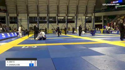 HYGOR BRITO DA SILVA vs FELIPE CARSALADE ARAUJO PENA 2019 World Jiu-Jitsu IBJJF Championship