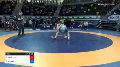86 kg Semifinal - Christopher Foca, Spartan Combat RTC vs Colton Hawks, Tiger Style Wrestling Club