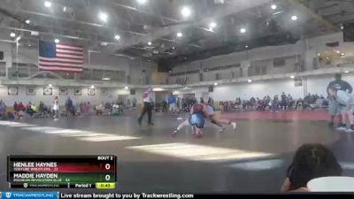 180 lbs Round 1 (4 Team) - Maddie Hayden, Michigan Revolution Blue vs Henlee Haynes, Youtube Wrestlers